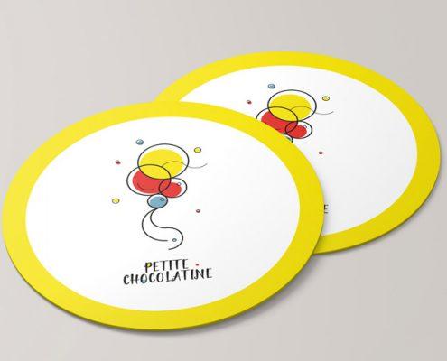 petite chocolatine brand stickers design