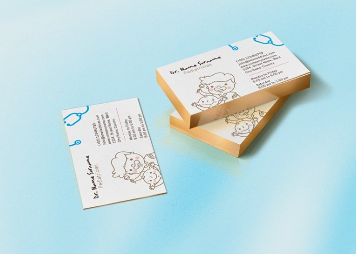 Pediatrician Clinic_Stationery & Illustrations Design