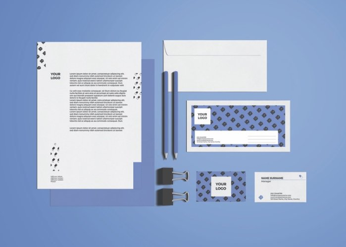 Trendy Medical_Stationery & Icons Design